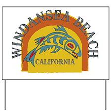 Windansea Sunset Fish Yard Sign