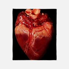 Pig's heart Throw Blanket