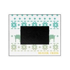 Beaver Creek Blue Winter Sweater Picture Frame