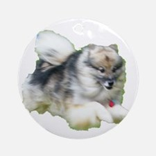 Kees Jumping Round Ornament