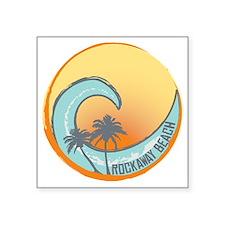 "Rockaway Beach Sunset Crest Square Sticker 3"" x 3"""