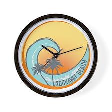 Rockaway Beach Sunset Crest Wall Clock