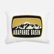 Arapahoe Basin Sunshine  Rectangular Canvas Pillow