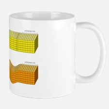 P and S seismic body waves, artwork Mug