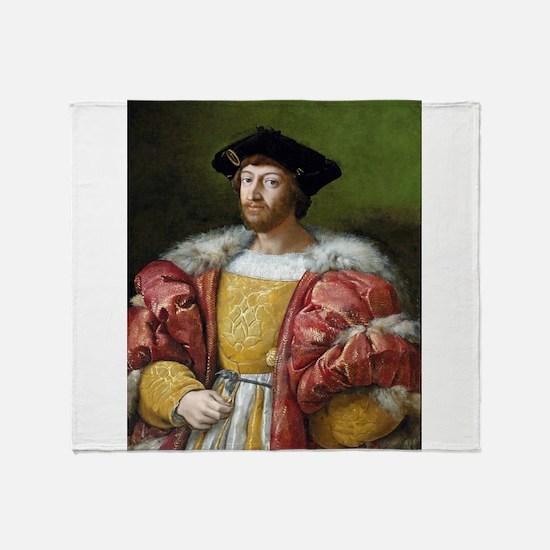 Lorenzo de Medici - Raphael Throw Blanket