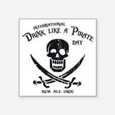 "drink-pirate-LTT Square Sticker 3"" x 3"""