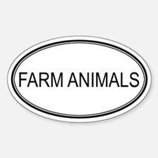 Oval Design: FARM ANIMALS Oval Decal
