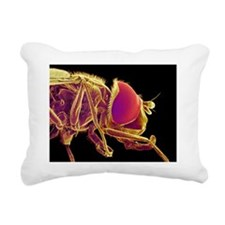 Hover fly, SEM Rectangular Canvas Pillow