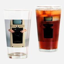 Hubot robot Drinking Glass