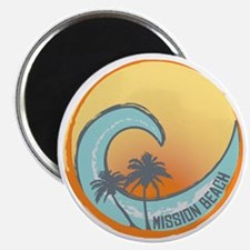 Mission Beach Sunset Crest Magnet