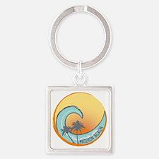 Mission Beach Sunset Crest Square Keychain