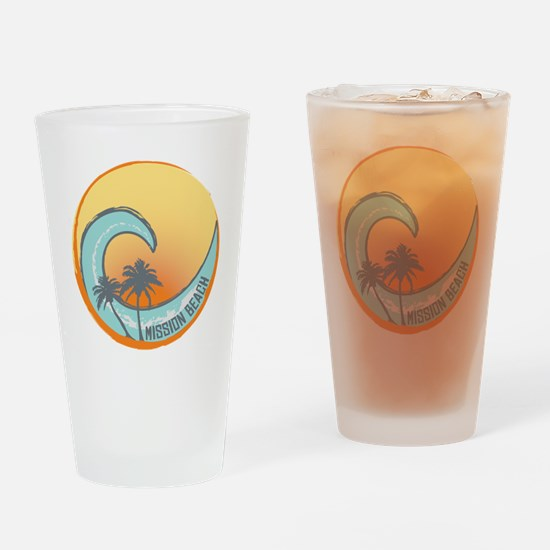 Mission Beach Sunset Crest Drinking Glass
