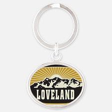 Loveland Sunshine Patch Oval Keychain