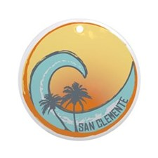 San Clemente Sunset Crest Round Ornament
