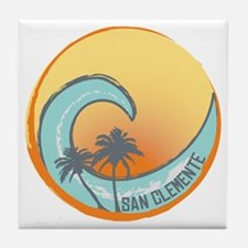 San Clemente Sunset Crest Tile Coaster