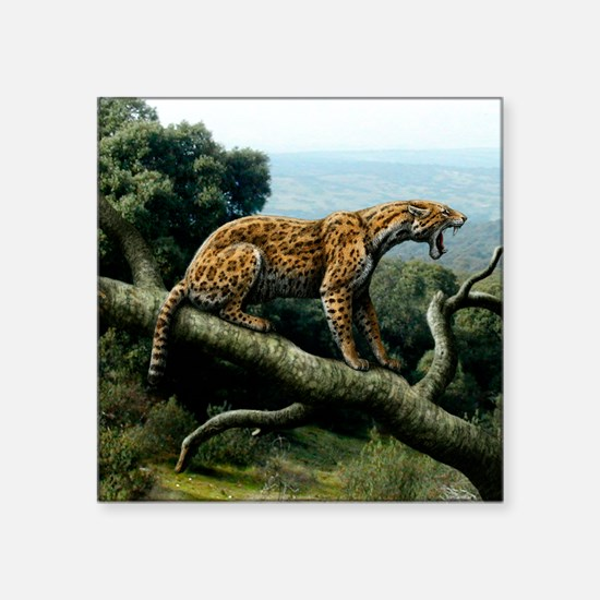 "Promegantereon sabre-tooth  Square Sticker 3"" x 3"""