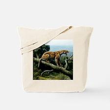 Promegantereon sabre-tooth cat, artwork Tote Bag