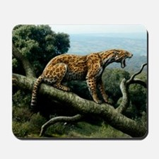 Promegantereon sabre-tooth cat, artwork Mousepad
