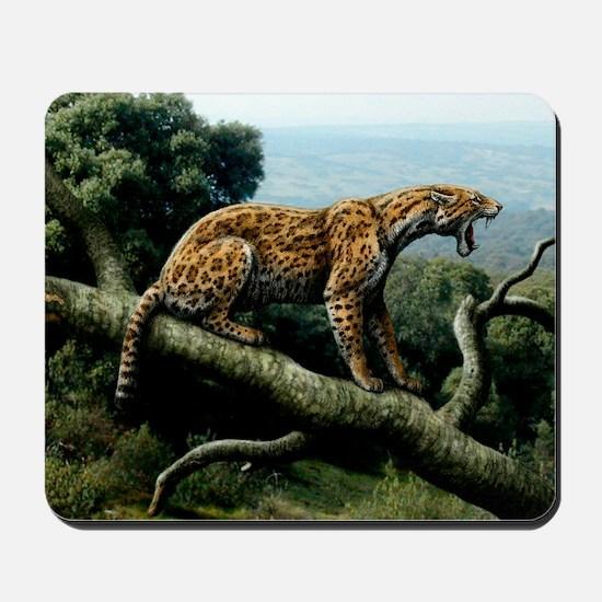 Promegantereon sabre-tooth cat, artwork Mousepad