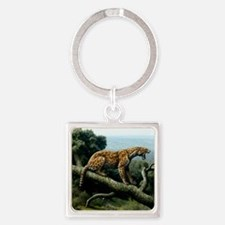 Promegantereon sabre-tooth cat, ar Square Keychain