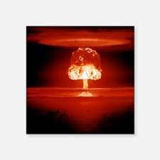 """Hydrogen bomb explosion Square Sticker 3"""" x 3"""""""