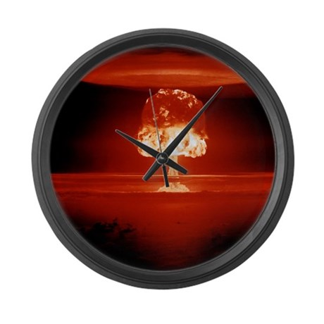 Hydrogen bomb explosion Large Wall Clock