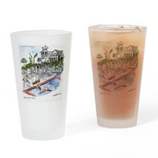 t- shirt Beach Club pool Drinking Glass