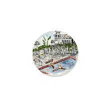 t- shirt Beach Club pool Mini Button