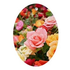 Roses Oval Ornament