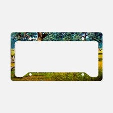 Sabre-toothed cat chasing pre License Plate Holder