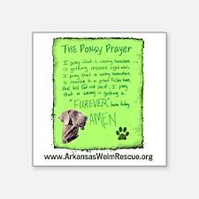 "Ponsy Prayer Square Sticker 3"" x 3"""
