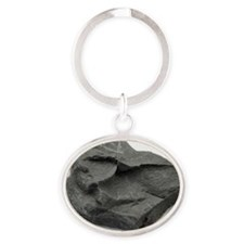 Sample of shale Oval Keychain