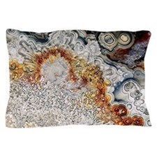 Polished 'crazy lace' agate Pillow Case