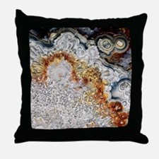 Polished 'crazy lace' agate Throw Pillow