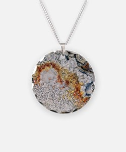 Polished 'crazy lace' agate Necklace