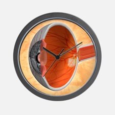 Retinal implant, artwork Wall Clock