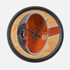 Retinal implant, artwork Large Wall Clock