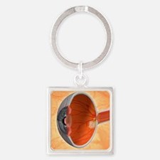 Retinal implant, artwork Square Keychain