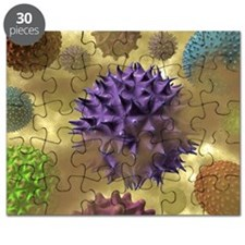 Pollen and dust, artwork Puzzle