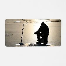 Ice fishing, Sweden Aluminum License Plate