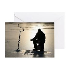 Ice fishing, Sweden Greeting Card