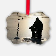 Ice fishing, Sweden Ornament