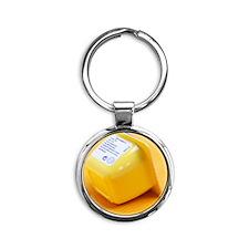 Information label Round Keychain
