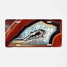 Slice of agate Aluminum License Plate
