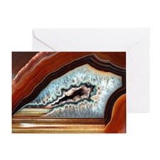 Slice of agate Greeting Card