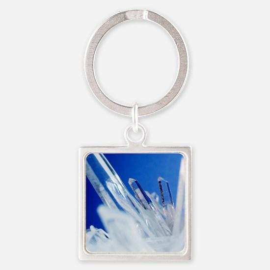 Quartz crystals Square Keychain