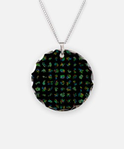 Protein folding simulation Necklace