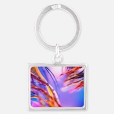 Insulated electronic wires Landscape Keychain