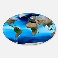 Sea surface density, global map Decal
