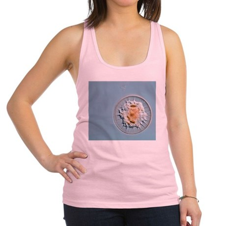 Shelled amoeba, light micrograp Racerback Tank Top
